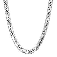 Men's Sterling Silver Curb Chain Necklace - 20 in
