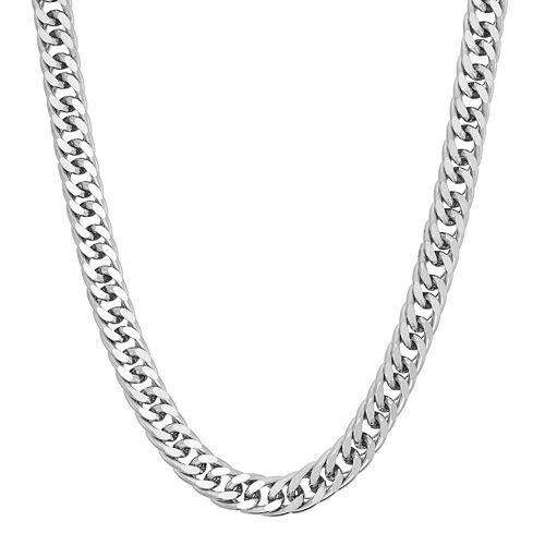 Men's Sterling Silver Curb Chain Necklace - 20 in.