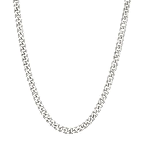 Sterling Silver Curb Chain Necklace - 20 in.