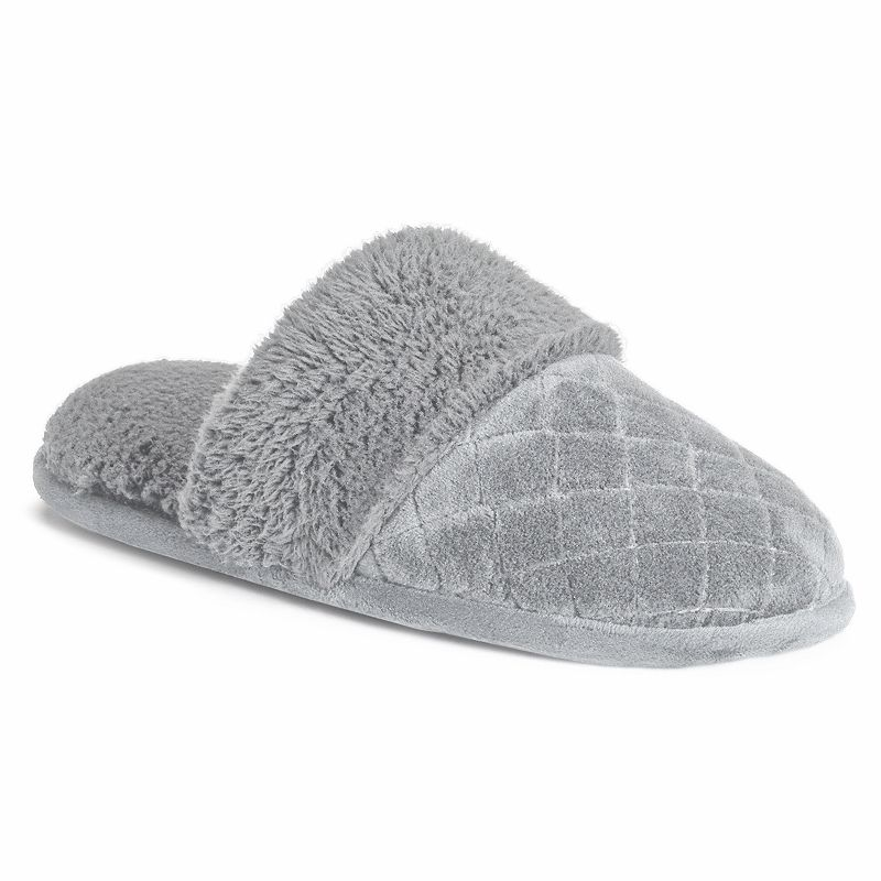 Dearfoams Women's Quilted Plush Clog Slippers