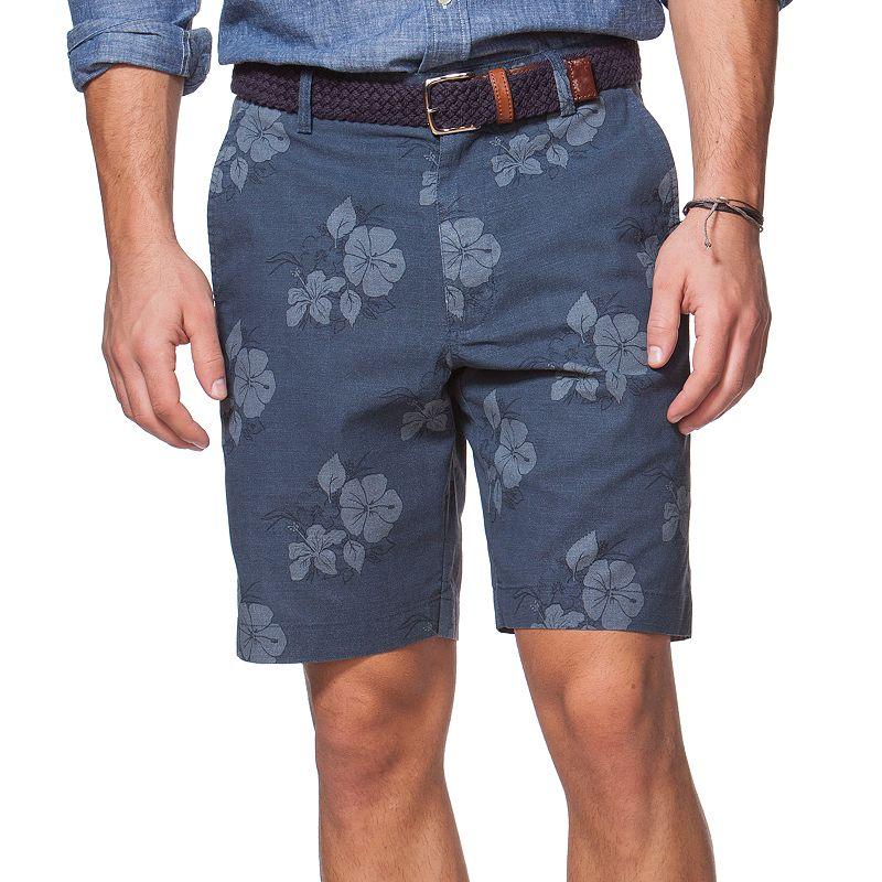 Men's Chaps Floral Print Flat-Front Shorts