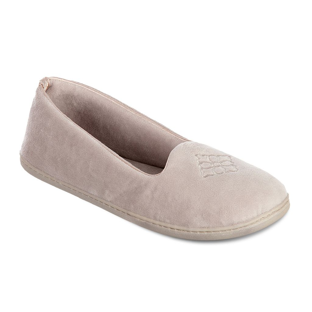 Dearfoams Velour Closed-Back Slippers