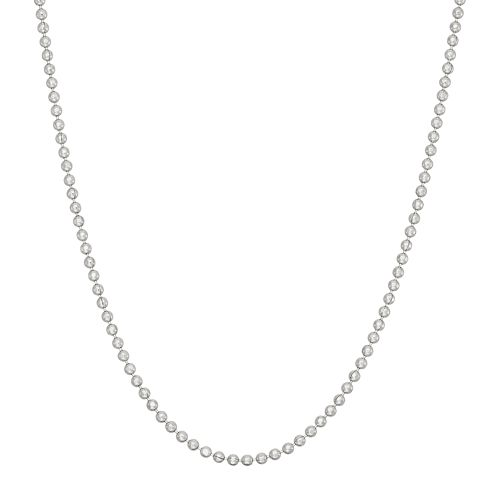 Sterling Silver Textured Ball Chain Necklace - 18 in.