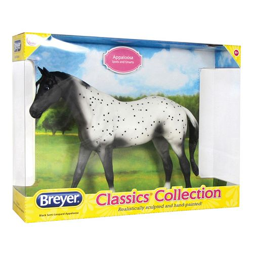 Breyer Classics Black Semi-Leopard Appaloosa Horse