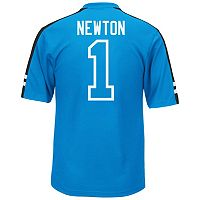 Men's Majestic Carolina Panthers Cam Newton Hashmark Player Top
