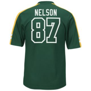 Men's Majestic Green Bay Packers Jordy Nelson Hashmark Player Top