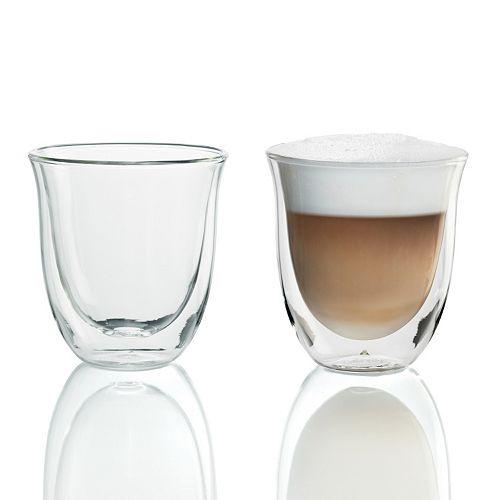 DeLonghi 2-pc. Double-Wall Cappuccino Glass Set