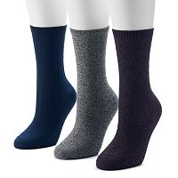 SONOMA Goods for Life™ 3-pk.Marled Sweater-Knit Crew Socks