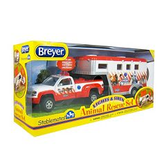 Breyer Stablemates Lights & Sirens Animal Rescue Set  by