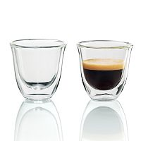 DeLonghi 2-pc. Double-Wall Espresso Glass Set