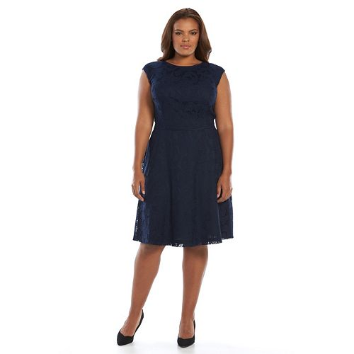 f8bdf5c984 Plus Size Suite 7 Lace Fit & Flare Dress