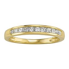 1/2 Carat T.W. Diamond 10k Gold Anniversary Ring