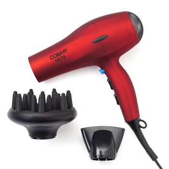 Conair 530 1875W Soft Velvet Touch Hair Dryer (Red)