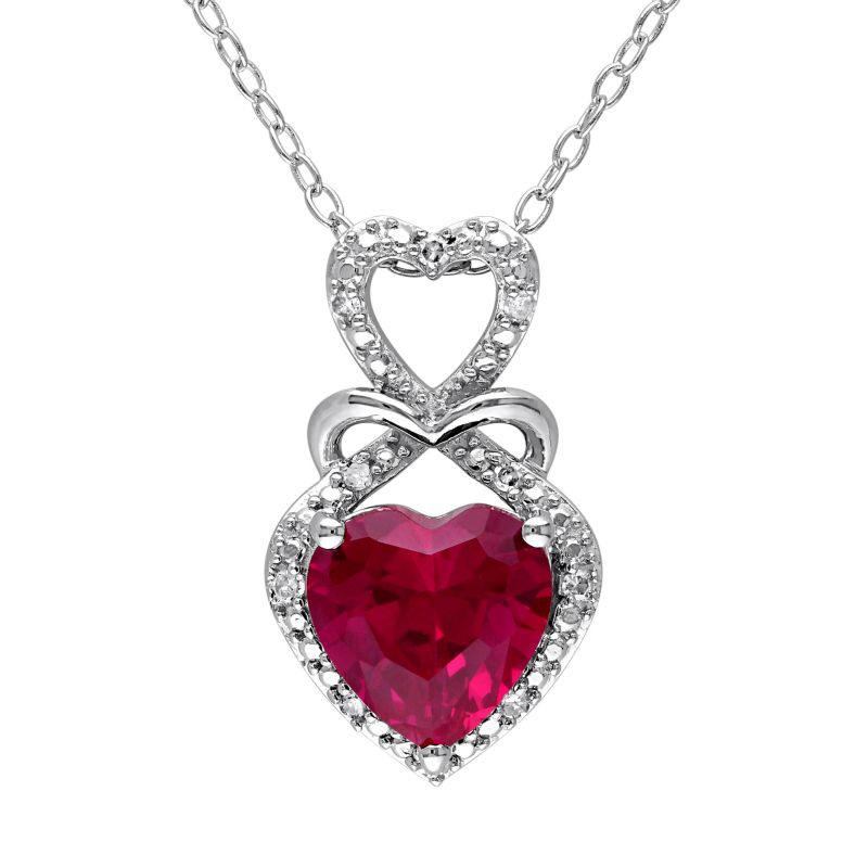 red ruby necklace kohls