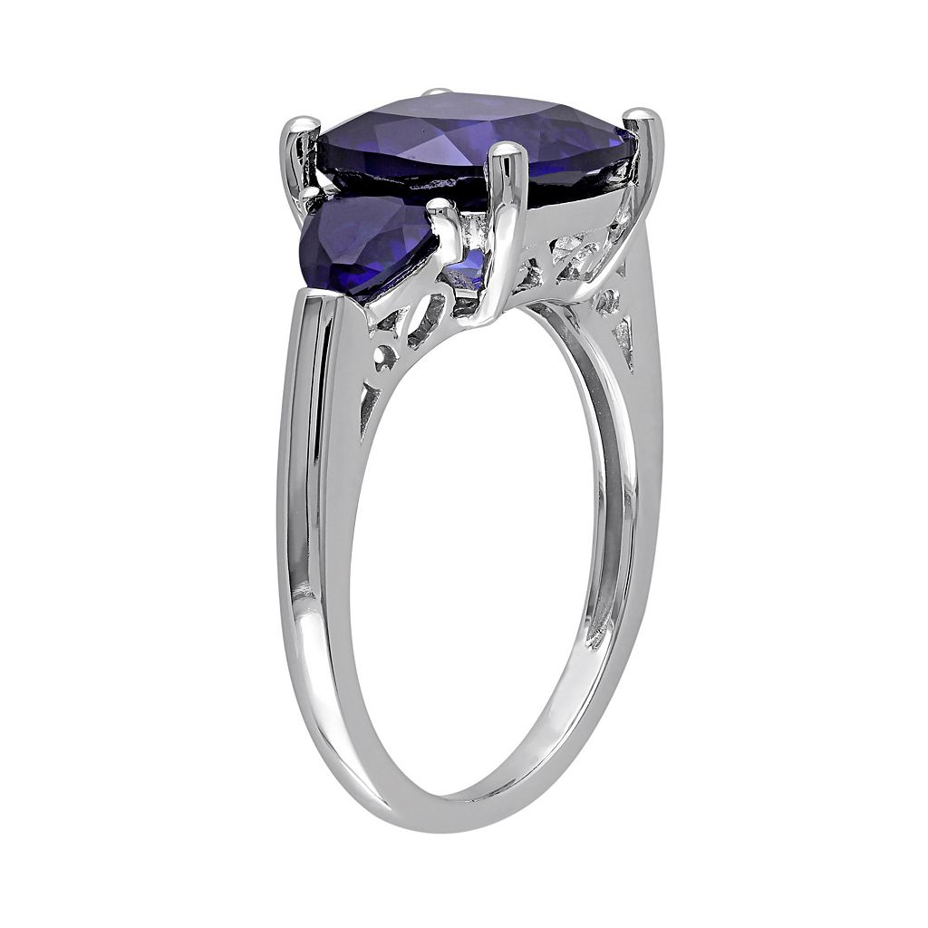 Lab-Created Sapphire Sterling Silver Ring