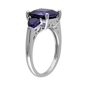 Stella Grace Lab-Created Sapphire Sterling Silver Ring