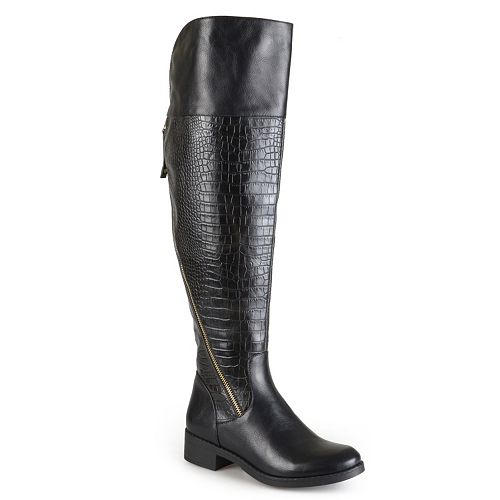 Journee Collection Plica Women's Knee-High Boots