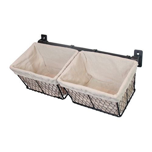 SONOMA Goods for Life™ 2-Piece Iron Chicken Wire Basket Set Wall Decor