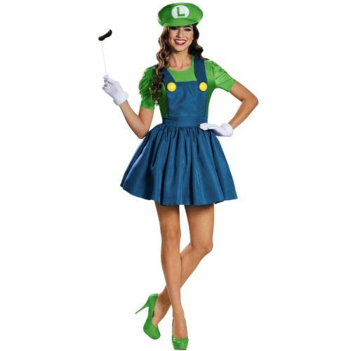 Super Mario Bros. Luigi Costume - Adult