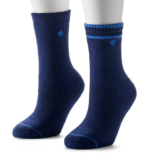 Women's Columbia 2-pk. Fleece-Lined Wool Crew Socks
