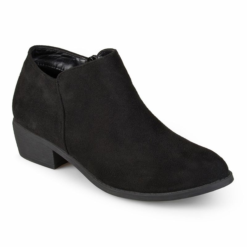 Journee Collection Sun Women's Ankle Boots. Girl's. Size: 6 Wide. Black