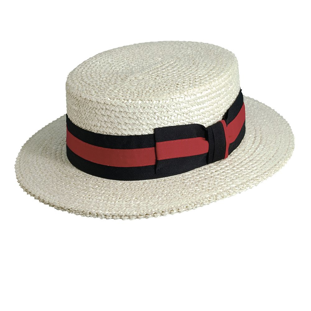 763cfdc59cc4f Scala Classico Straw Boater Hat - Men