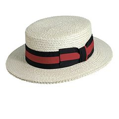 Scala Classico Straw Boater Hat - Men