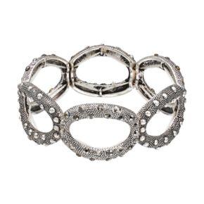 Textured Oval Link Stretch Bracelet
