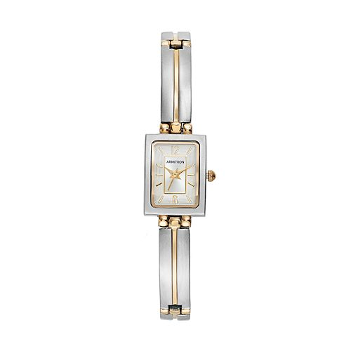 Armitron Women's Two Tone Half-Bangle Watch - 75/5322SVTT