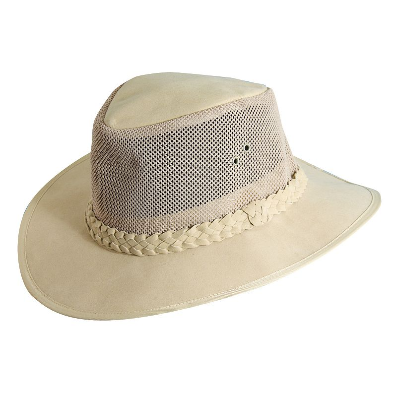 Dorfman Pacific Mesh Bush Soaker Hats Small/Medium Natural