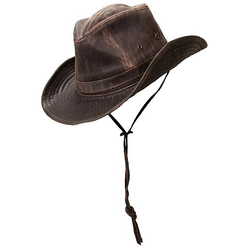 2a77969b1 Men's Brown Weathered-Cotton Outback Safari Hat
