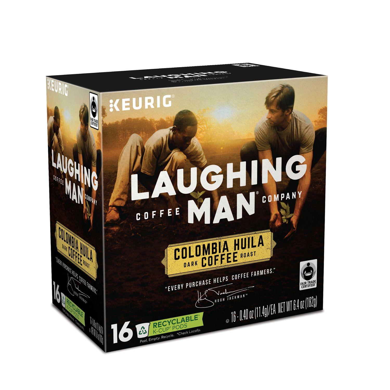 keurig kcup pod laughing man columbia huila dark roast coffee 16pk - Keurig K Cup