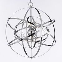 Gallery Foucault Chrome 6-Light Chandelier