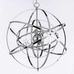 Gallery Foucault Chrome 6-Light Chandelier