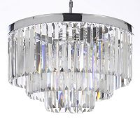 Gallery Retro Odeon Crystal 3-Tier Chandelier