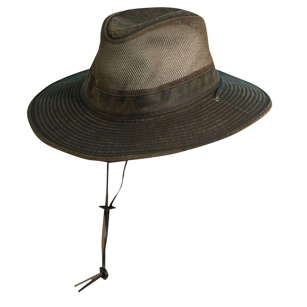 Big-Brim Supplex Weathered Safari Hat - Men