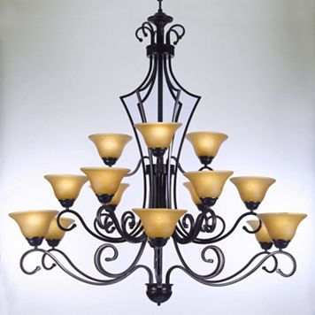Gallery Wrought Iron 15-Light Chandelier
