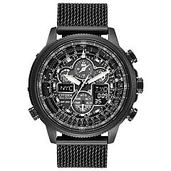 Citizen Eco-Drive Men's Navihawk A-T Stainless Steel Chronograph Watch