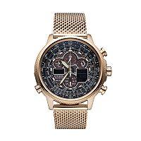 Citizen Eco-Drive Men's Navihawk A-T Stainless Steel Chronograph Watch
