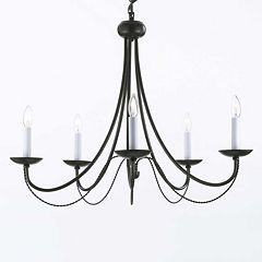 Gallery Versailles Wrought Iron 5-Light Chandelier