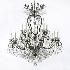 Gallery Versailles Crystal 2-Tier 16-Light Chandelier