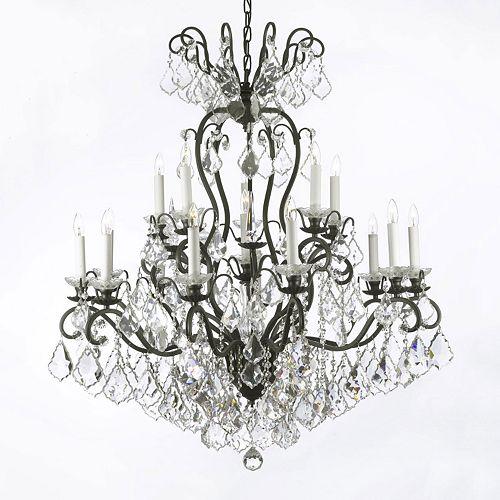 Gallery Versailles Crystal 2-Tier 16-Light Chandelier