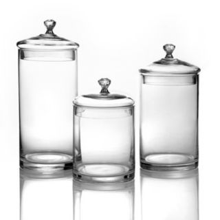 Style Setter 3-pc. Glass Kitchen Canister Set