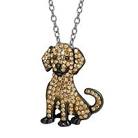 Animal Planet Sterling Silver Crystal Golden Retriever Pendant