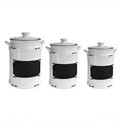 American Atelier Vintage Chalkboard 3-pc. Kitchen Canister Set