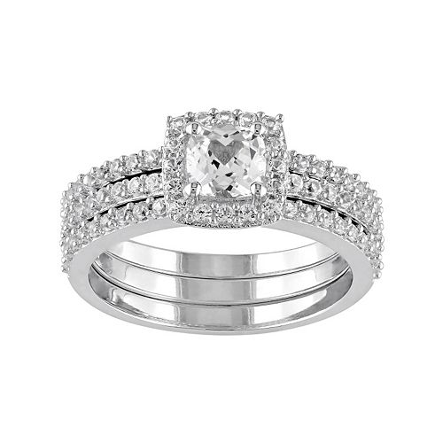 Stella Grace Sterling Silver Lab Created White Sapphire