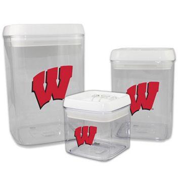 Wisconsin Badgers 3-Piece Storage Container Set