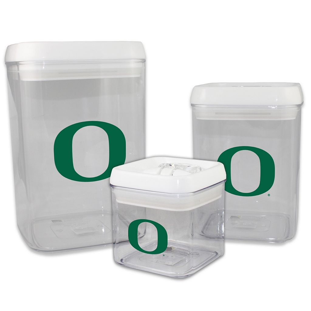 Oregon Ducks 3-Piece Storage Container Set