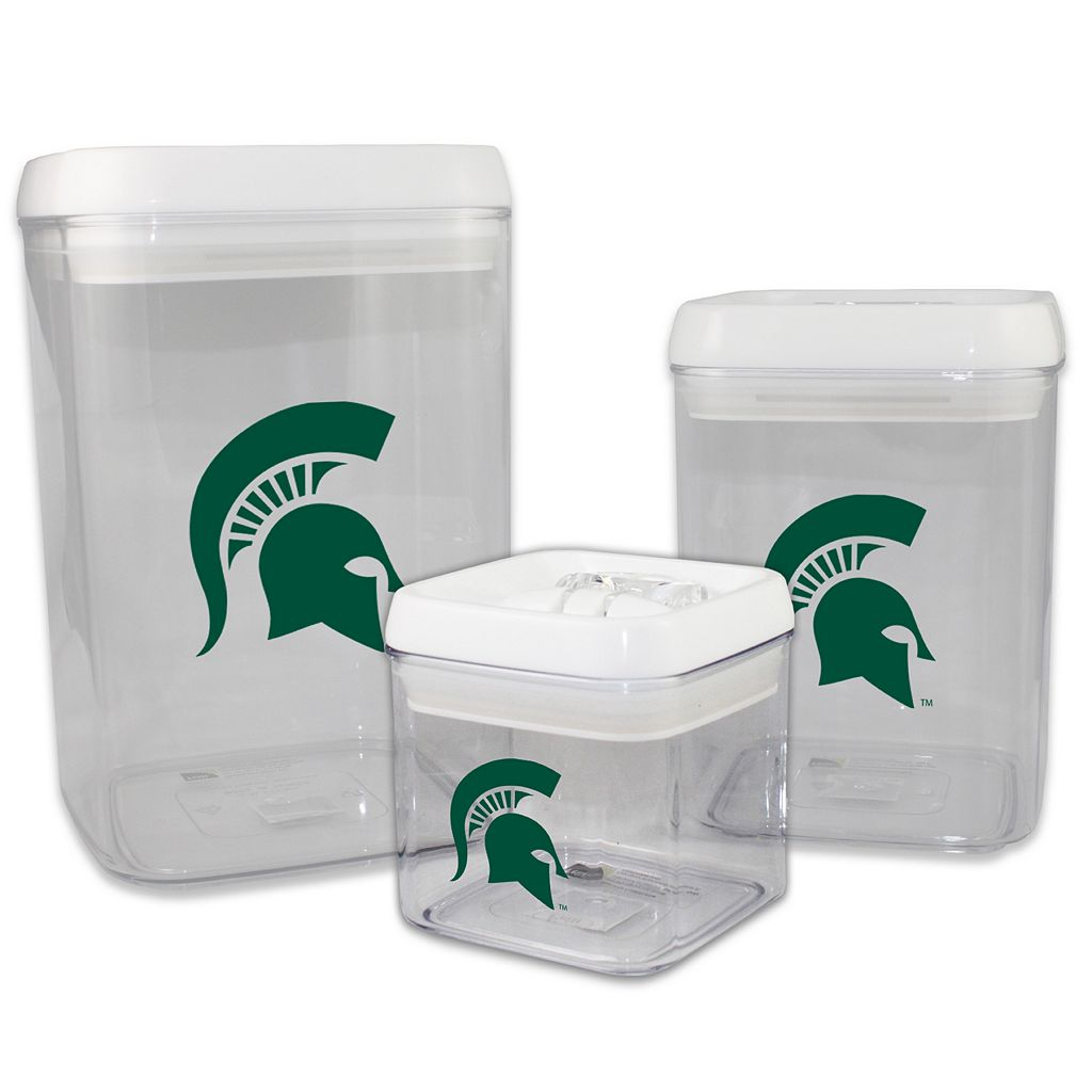 Michigan State Spartans 3-Piece Storage Container Set