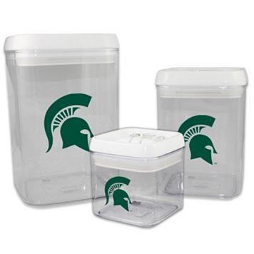 Michigan State Spartans 3-Piece Storage Container Set